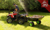 folding trailer behind quad jober