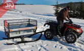 Ski-for atv trailer gardener
