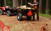 work quad and trailer