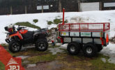 Raised sideboard ATV trailer Profi Worker