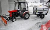 trailer gardener behind compact traktor
