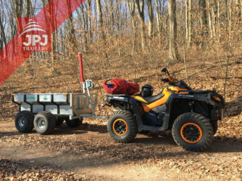 Quad Can Am and trailer Profi Worker