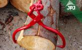 self-grabbing timber tongs