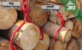 small and big self-grabbing timber tongs