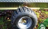 Wheel of the trailer Gardener